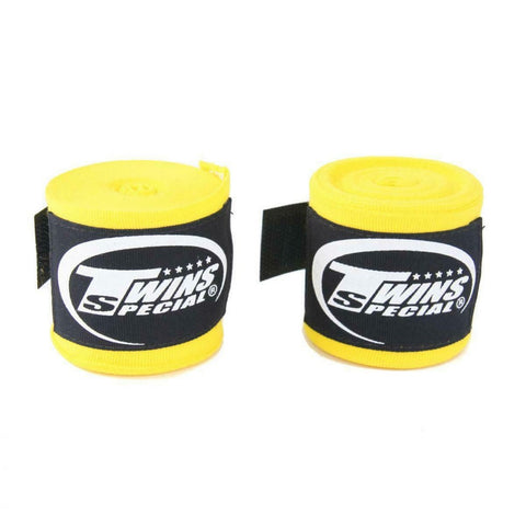 Twins Special Hand wraps Yellow Elastic Cotton CH5