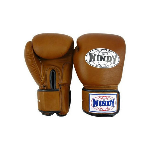 Windy Amateur Boxing Gloves Brown genuine leather BGVH