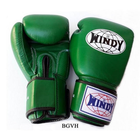 Windy Amateur Boxing Gloves Green genuine leather BGVH
