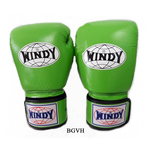 Windy Amateur Boxing Gloves Lightgreen genuine leather BGVH