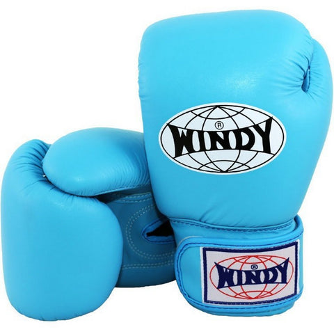 Windy Amateur Boxing Gloves Lightblue genuine leather BGVH