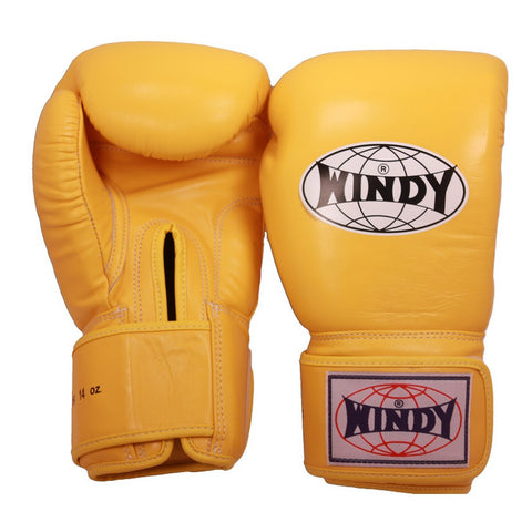 Windy Amateur Boxing Gloves Yellow genuine leather BGVH
