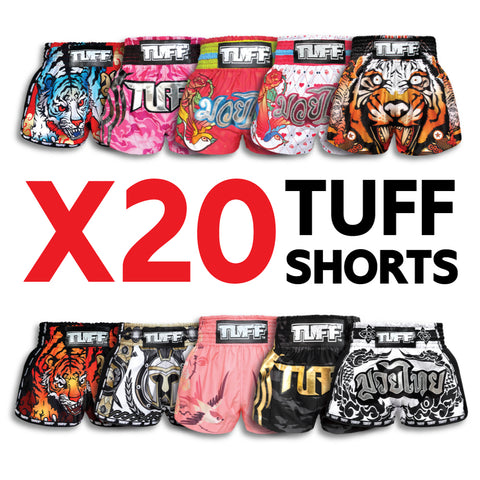 X20 Assorted TUFF Muay Thai Shorts Bundle