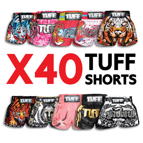 X40 Assorted TUFF Muay Thai Shorts Bundle