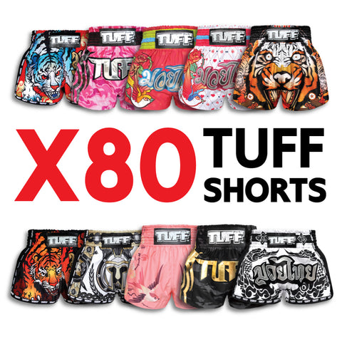 X80 Assorted TUFF Muay Thai Shorts Bundle