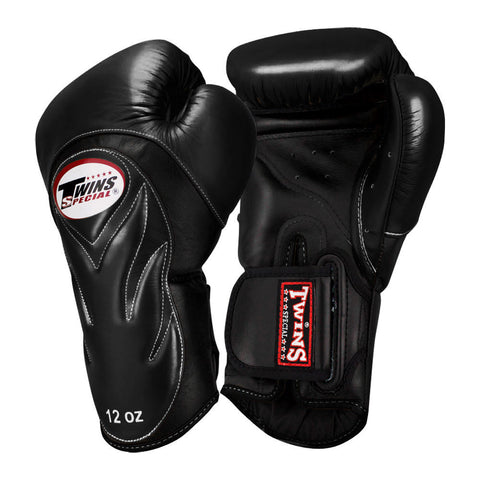 Twins Special New Style Boxing Gloves Leather Black BGVL-6