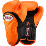 Twins Special New Style Boxing Gloves Leather Black Orange BGVL-6