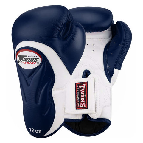 Twins Special New Style Boxing Gloves Leather White Blue BGVL-6
