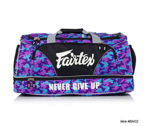 New Fairtex BAG2 Gym Bag in Camo Theme Purple