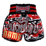 Custom Kombat Gear Muay Thai Boxing Red Black Grey Camouflage