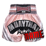 Custom Kombat Gear Muay Thai Boxing Baby Orange Pink With Grey Stripe
