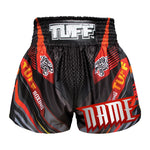 Custom TUFF Muay Thai Boxing Shorts Black With Double Tiger