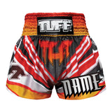 Custom TUFF Muay Thai Boxing Shorts Red Cool Design