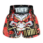 Custom TUFF Muay Thai Boxing Shorts Dragon King in Red