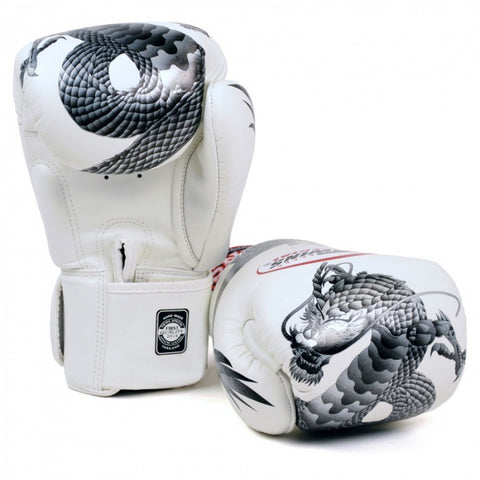 TWINS Fancy Gloves Velcro Closure White 'Silver Dragon' FBGV-23S