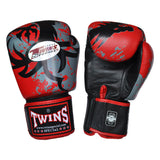 TWINS Fancy Gloves Velcro Closure Red with Graphic FBGV-36