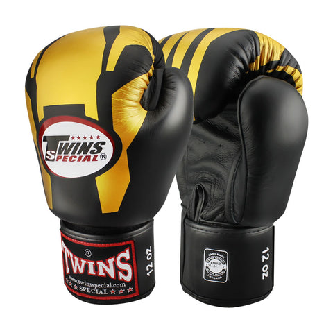 TWINS Special Fancy Boxing Gloves Leather Black FBGV-46