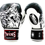 Twins Special Fancy Boxing Gloves Wolf Black-White FBGV-50