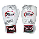 TWINS Fancy Gloves Velcro Closure White 'Black Dragon' FBGV-6B