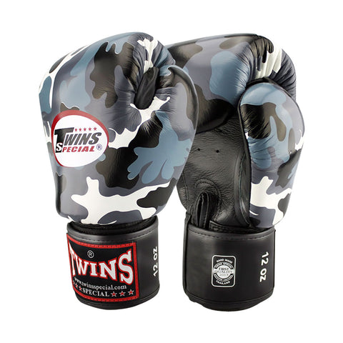 TWINS Special Fancy TW4 Boxing Gloves Leather Urban Gray FBGV-UG