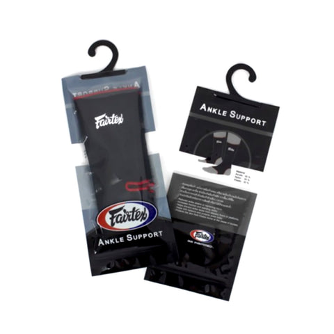 Fairtex Ankle Support Black With Red Border