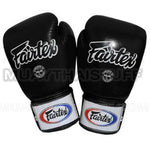 Fairtex Muay Thai Boxing Gloves Solid Black BGV1
