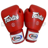 Fairtex Muay Thai Boxing Gloves Solid Red