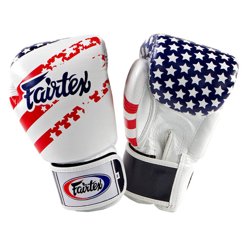 Fairtex Muay Thai Gloves premium leather with US Flag