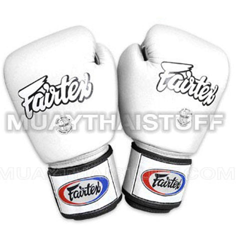 Fairtex Muay Thai Gloves White Leather BGV1