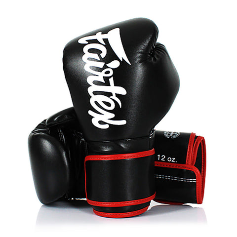 Fairtex Boxing Gloves Black Synthetic leather (microfiber) BGV14
