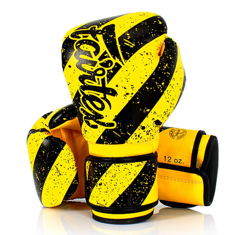 Fairtex Boxing Gloves Yellow Black Synthetic leather BGV14