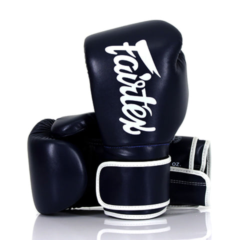 Fairtex Boxing Gloves Navy Blue Synthetic leather (microfiber) BGV14