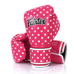 Fairtex Boxing Gloves Pink Synthetic leather Polka Dot BGV14