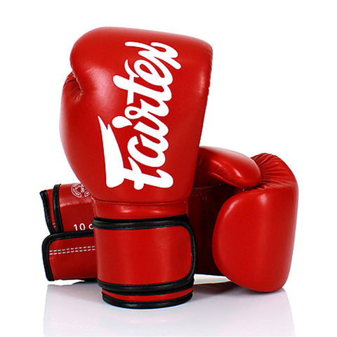 Fairtex Boxing Gloves Red Synthetic leather (microfiber) BGV14