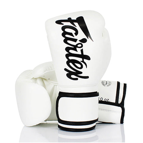Fairtex Boxing Gloves White Synthetic leather (microfiber) BGV14