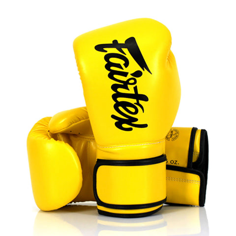 Fairtex Boxing Gloves Yellow Synthetic leather (microfiber) BGV14