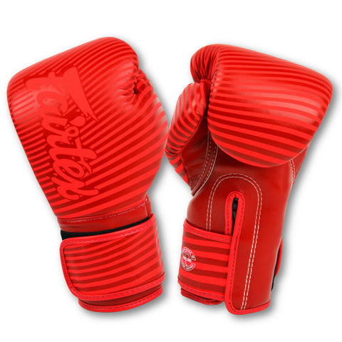 Fairtex Boxing Gloves Minimalism Art Red Synthetic leather BGV14