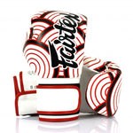 Fairtex Boxing Gloves JAPANESE ART Synthetic leather White Red BGV14