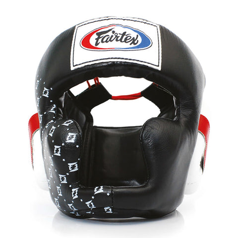 Fairtex Muay Thai Super Sparring Head Guard Black HG10