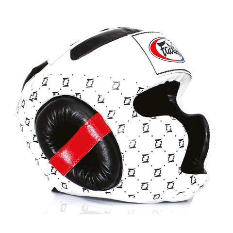 Fairtex Muay Thai Super Sparring Head Guard White HG10