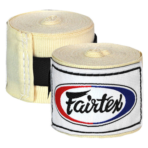 Fairtex Elastic Cotton Handwraps White HW2
