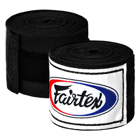 Fairtex Elastic Cotton Handwraps Black HW2