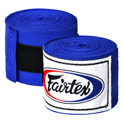 Fairtex Elastic Cotton Handwraps Blue HW2