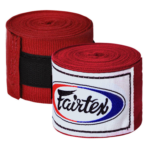Fairtex Elastic Cotton Handwraps Red HW2