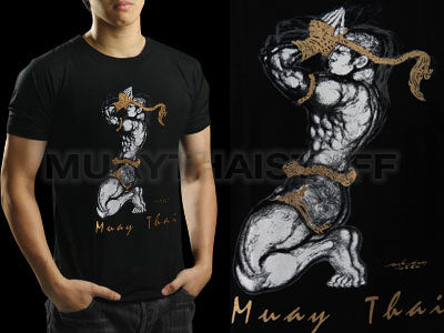 Human Fight MuayThai T-shirts Black Wai Kru HFB08