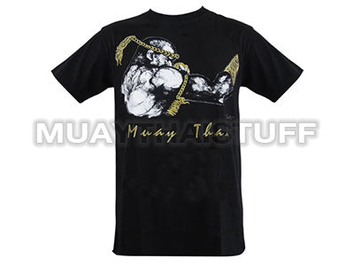 Human Fight MuayThai T-shirts Black Guarded Stance HFB14