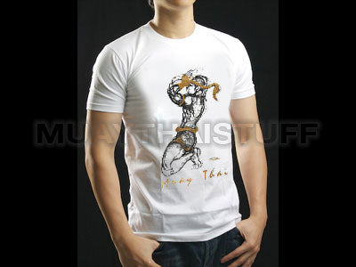 Human Fight MuayThai T-shirts White Wai Kru HFW08