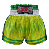 Kombat Gear Muay Thai Boxing shorts Green Star Gradient With Strips