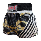 Kombat Gear Muay Thai Boxing shorts Black Camouflage With Strips