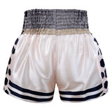 Kombat Gear Muay Thai Boxing shorts Ivory With Black Hexagon